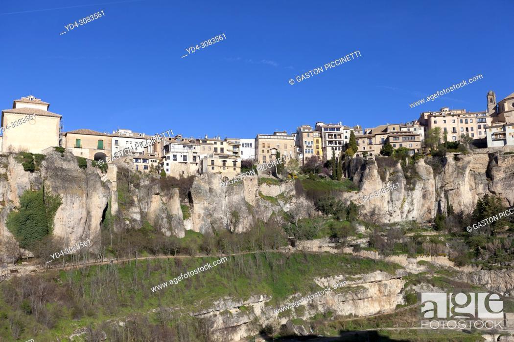Stock Photo: Cuenca, Jucar river gorge, UNESCO World Heritage Site. Castilla-La Mancha. Spain. .