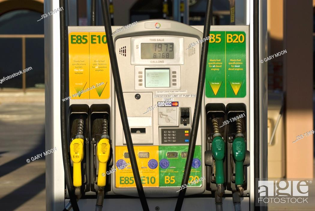 E85 Gas Stations >> Biodiesel Ethanol Fuel Pumps At Retail Fuel Station With E85 E10