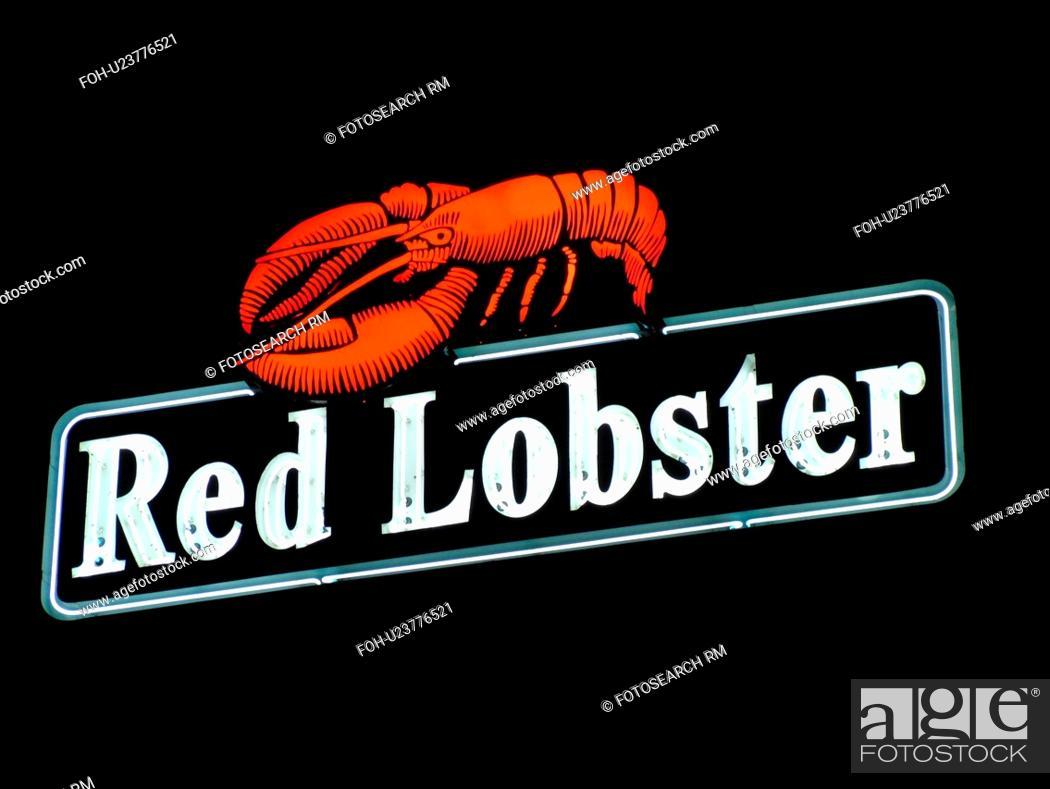 Stock Photo Daytona Beach Fl Florida Red Lobster Seafood Restaurant Night
