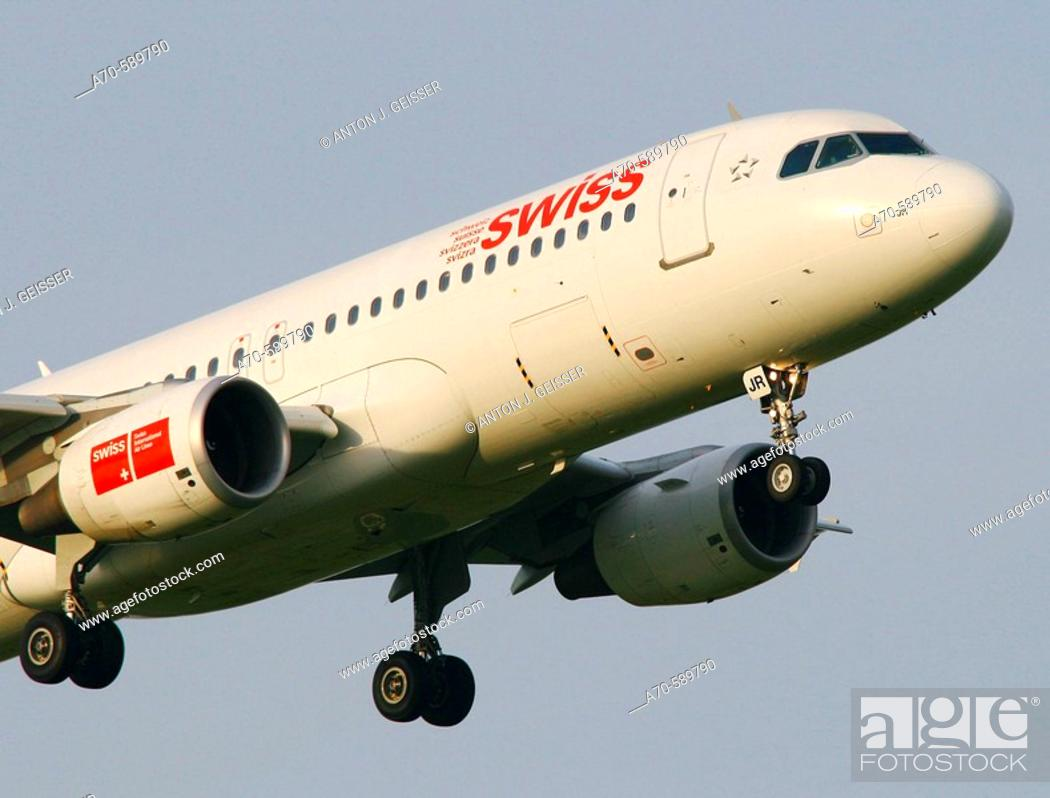 Stock Photo: Swiss International Airlines Airbus.