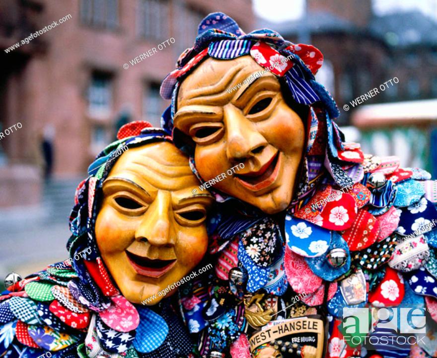 Stock Photo: Carnival. Freiburg im Breisgau. Baden-Württemberg. Germany.