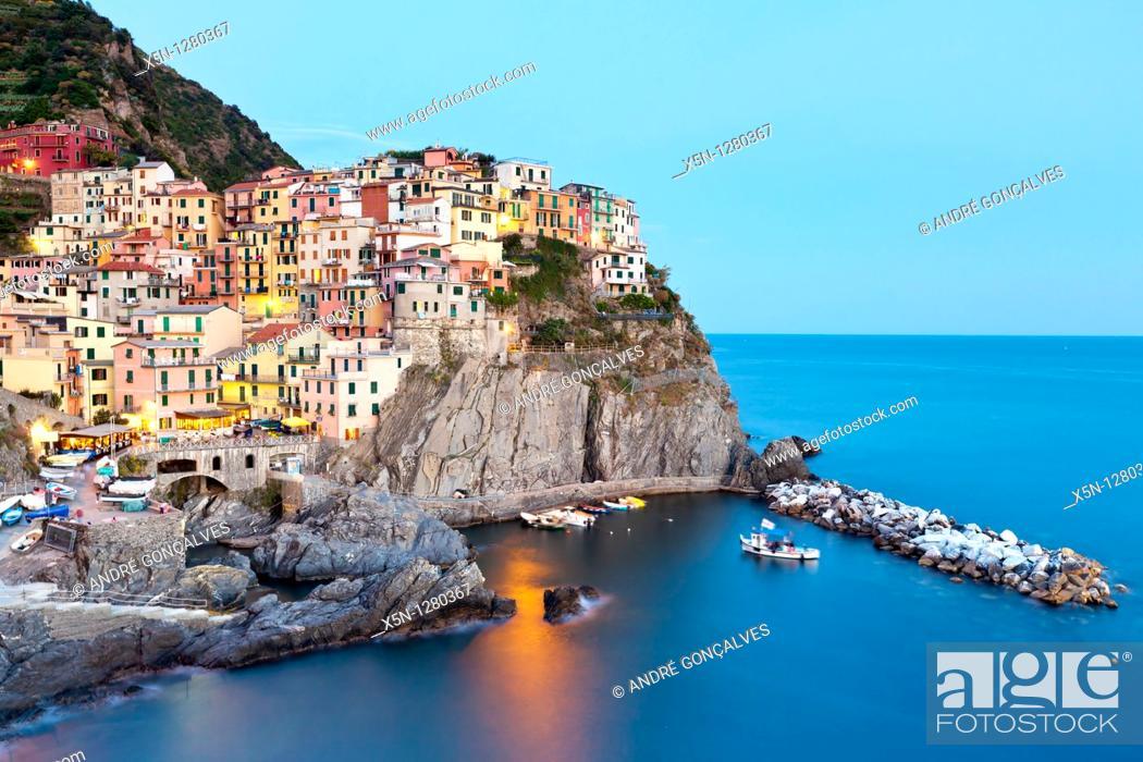Stock Photo: Manarola, Cinque Terre, Liguria, Italy.