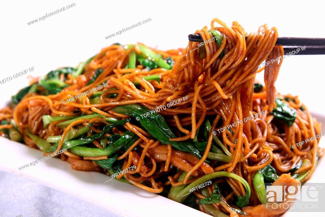 Stock Photo: Shanghai fried noodles.
