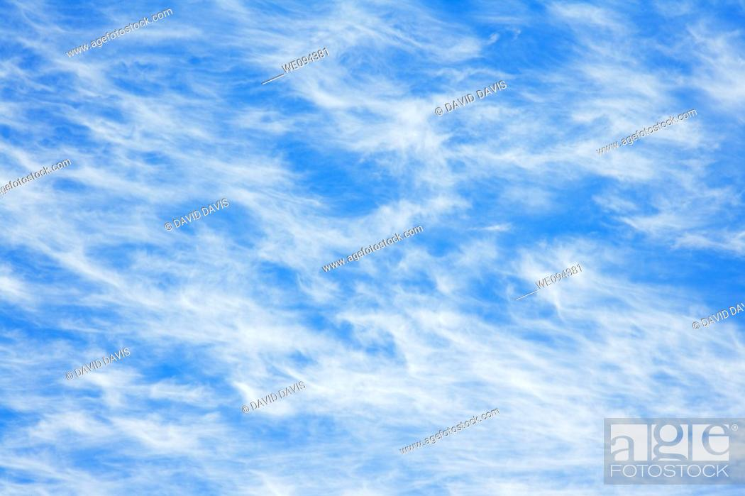 Stock Photo: Summer day with blue sky and Cirrus Clouds.
