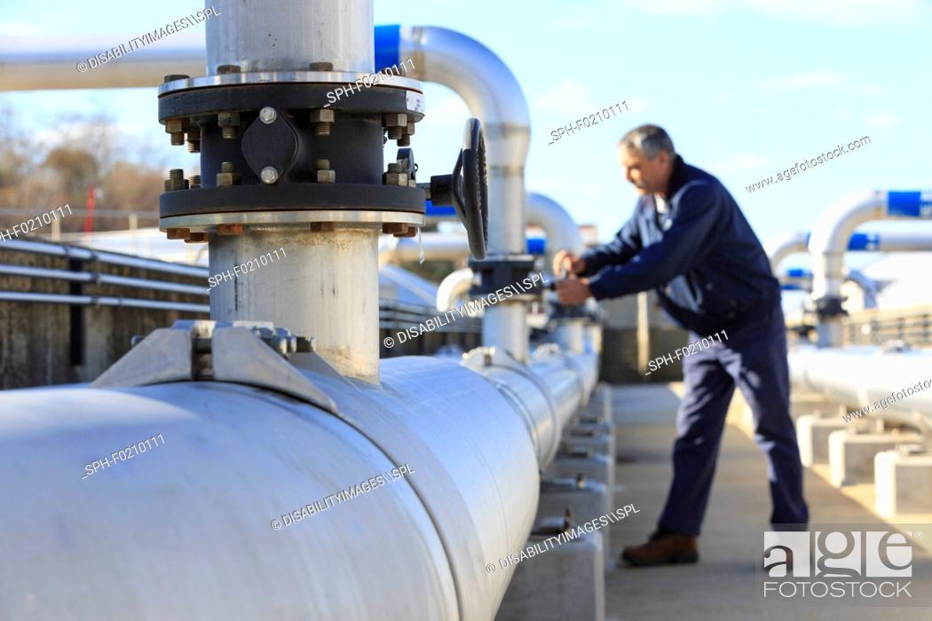 Stock Photo: Water treatment plant.
