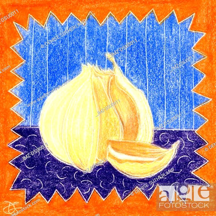 Stock Photo: fresh garlic.