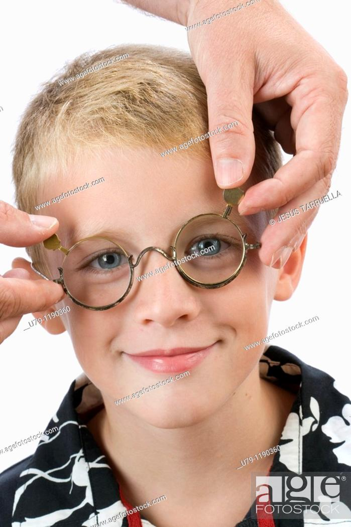 Stock Photo: Boy with glasses.