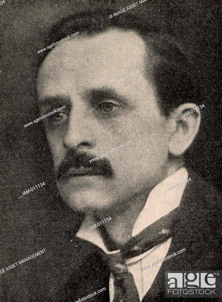 Stock Photo: James Matthew (JM) Barrie (1860-1937) Scottish playwright and novelist, born at Kirriemuir, Angus, Scotland. 'Quality Street' (1901), 'Peter Pan' (1904).