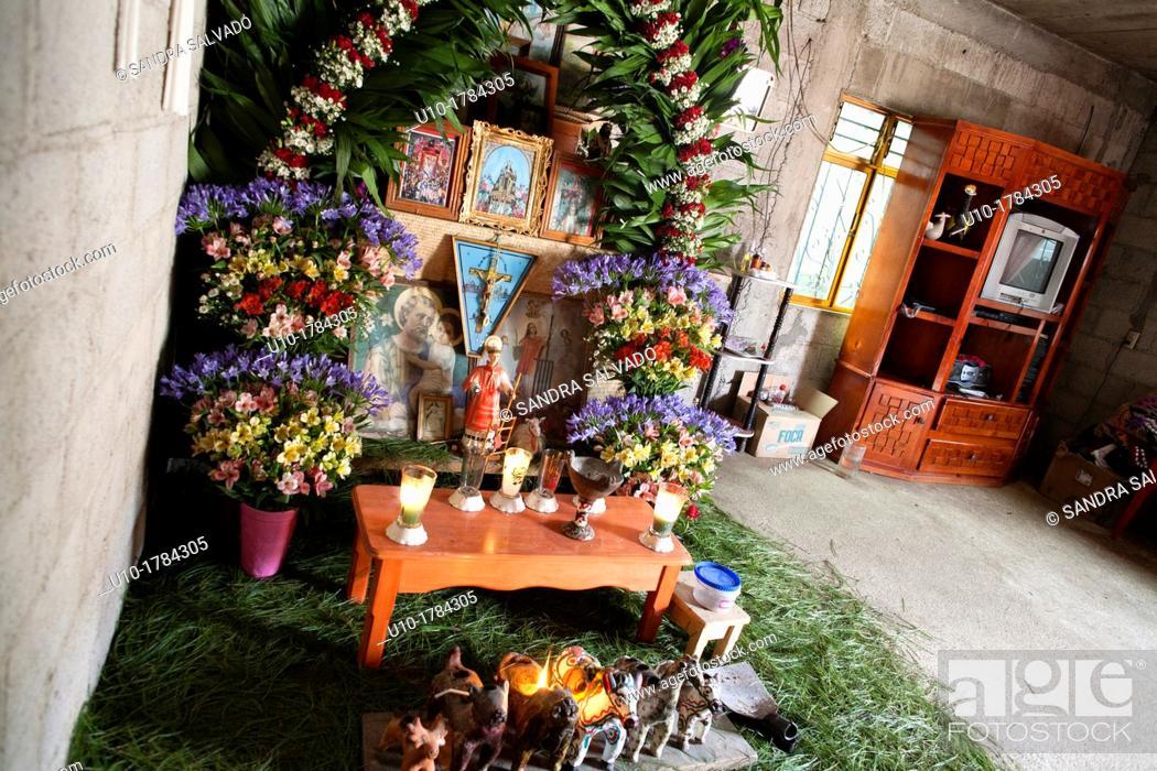 Stock Photo: Mayan altar in Chiapas, Mexico.