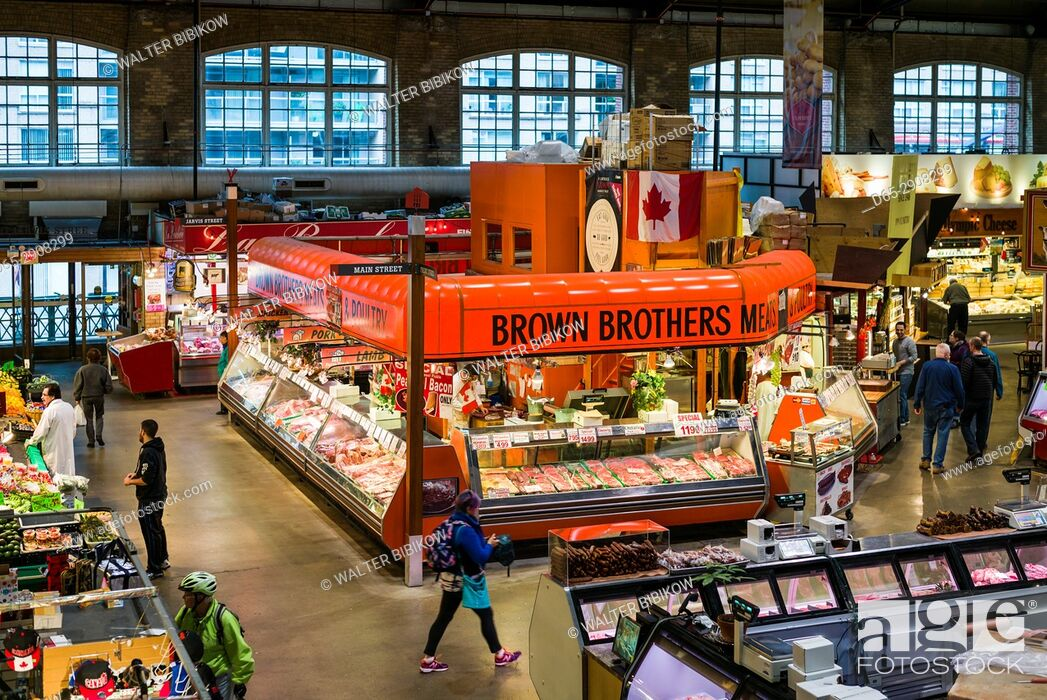 Stock Photo: Canada, Ontario, Toronto, St. Lawrence Market, interior.
