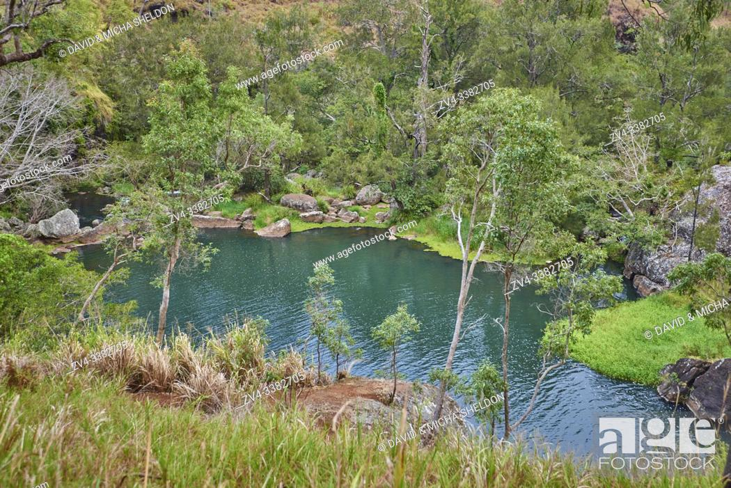 Stock Photo: Nature landscape of a little lake from the Small Millstream Falls near Cairns in spring, Queensland, Australia.