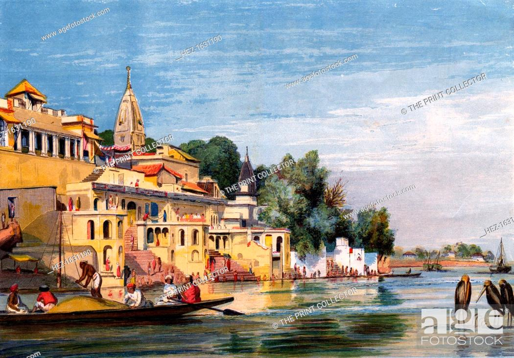 Stock Photo: Cawnpore on the Ganges, India, 1857. From a supplement to The Illustrated London News (28 November 1857).