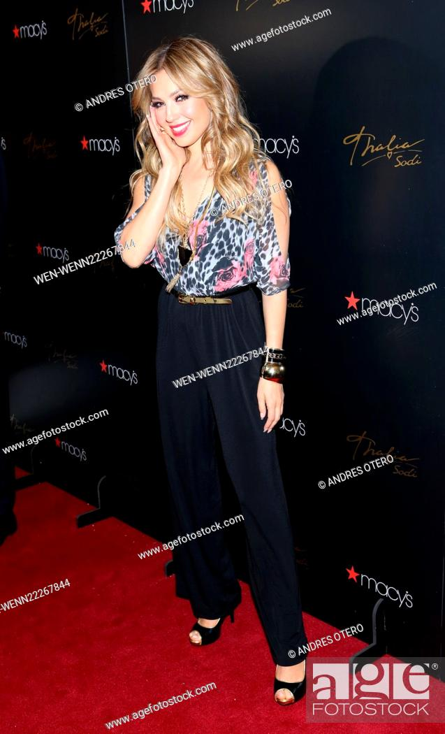 34be9cb3d Stock Photo - Singer Thalia attends the launch of the Thalia Sodi Collection  at Macy s Herald Square Featuring  Thalia Where  New York City