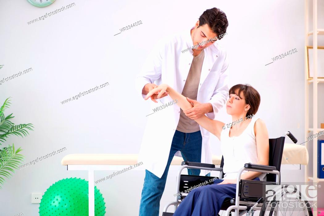 Stock Photo: Patient recovering in hospital after injury trauma.