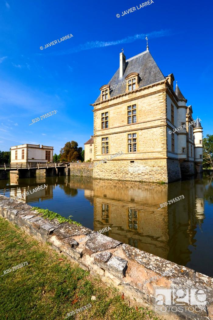 Stock Photo: Castle of Cormatin, Saone-et-Loire Department, Burgundy Region, Maconnais Area, France, Europe.