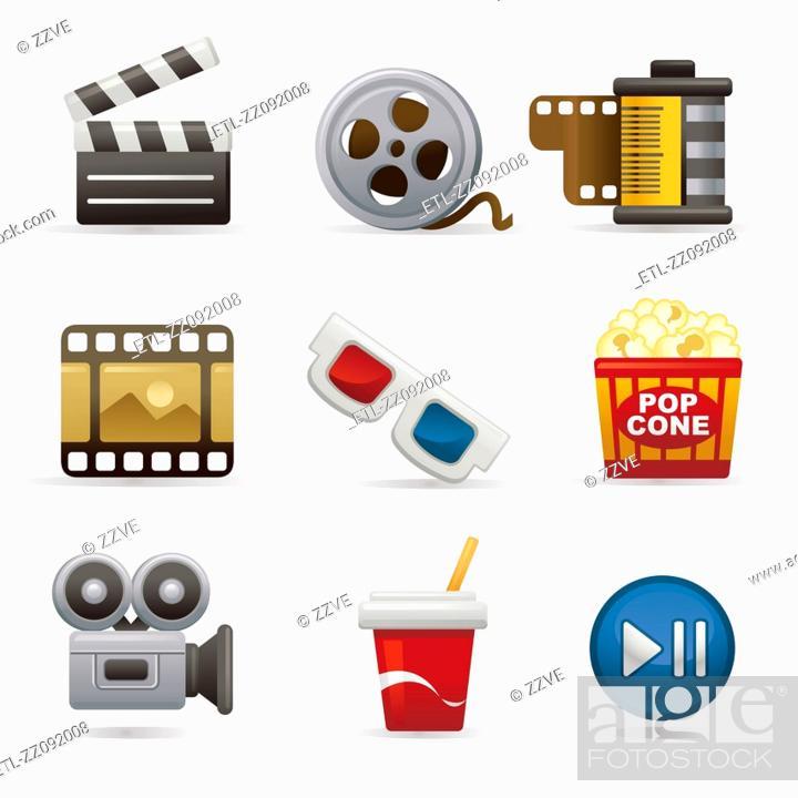Stock Photo: Premier icon set.