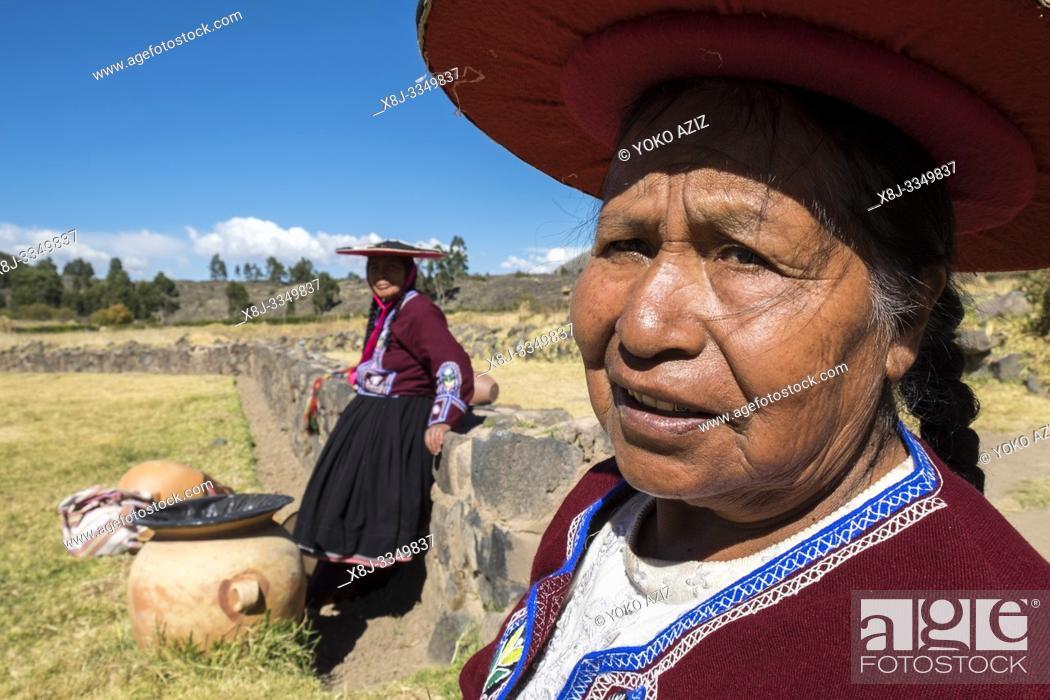 Stock Photo: Peru, Raqchi, portrait.