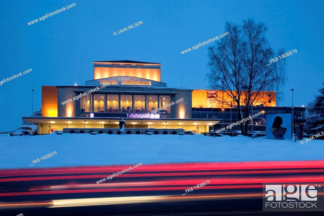 Stock Photo: Theatre Vanemuine in Tartu, Estonia, Europe.