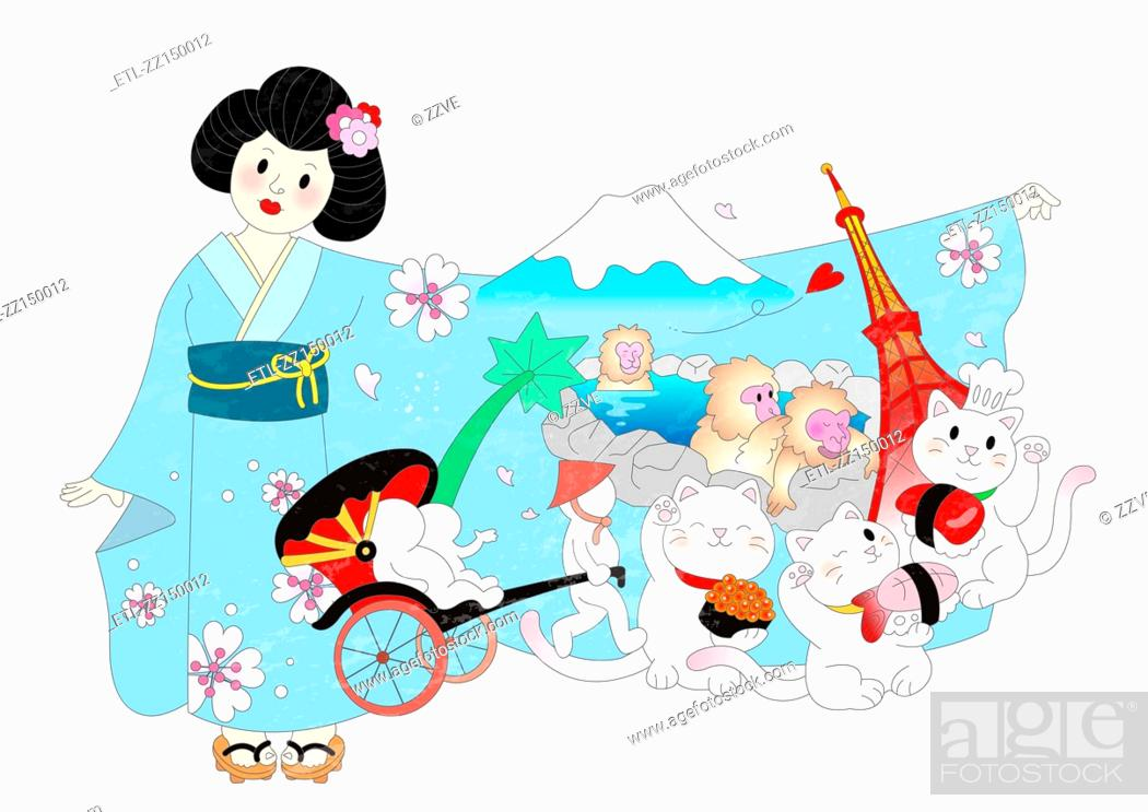 Stock Photo: Attractions of japan.