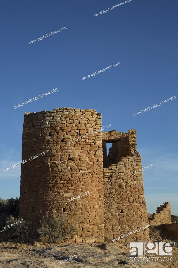 Imagen: Hovenweep Castle, Late Afternoon, Ancestral Pueblo, Hovenweep National Monument, Utah, USA.