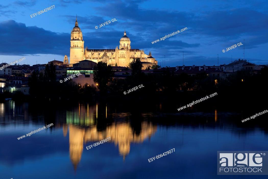 Stock Photo: Cathedral of Salamanca, Castilla y Leon, Spain.