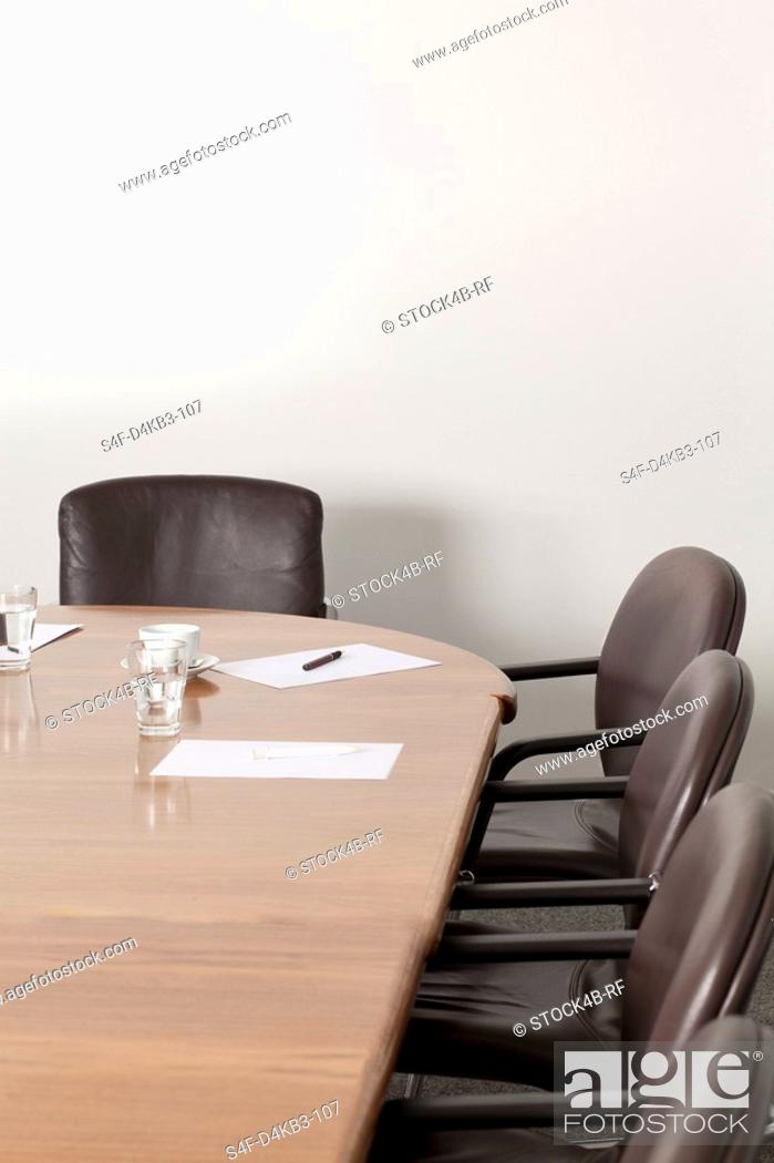 Stock Photo: Empty conference room, Munich, Bavaria, Germany.