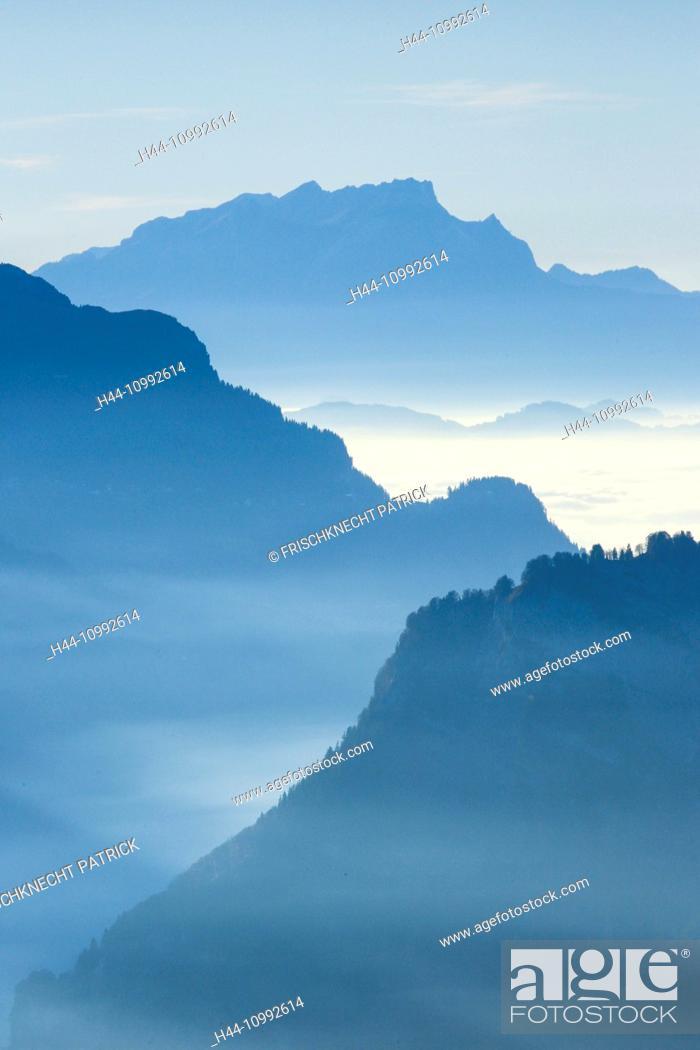 Stock Photo: Muotatal, canton Schwyz, near Pilatus, Switzerland.