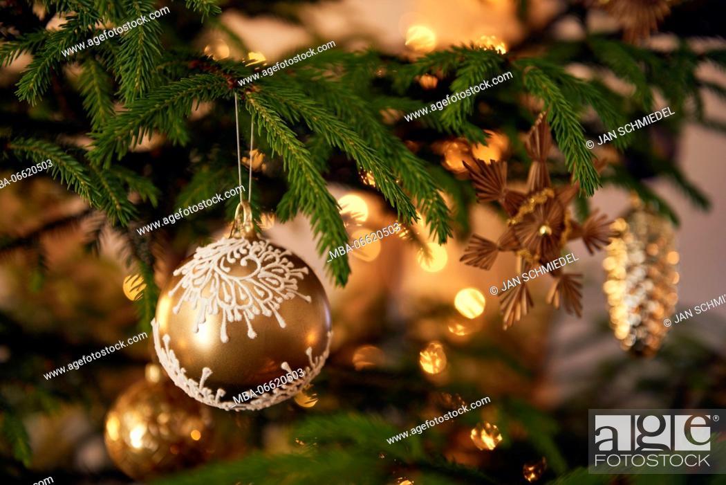 Stock Photo: Christmas tree with decorations, Still life Christmas.