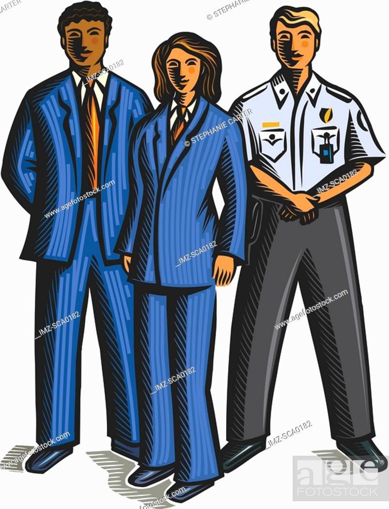 Stock Photo: uniformed staff.