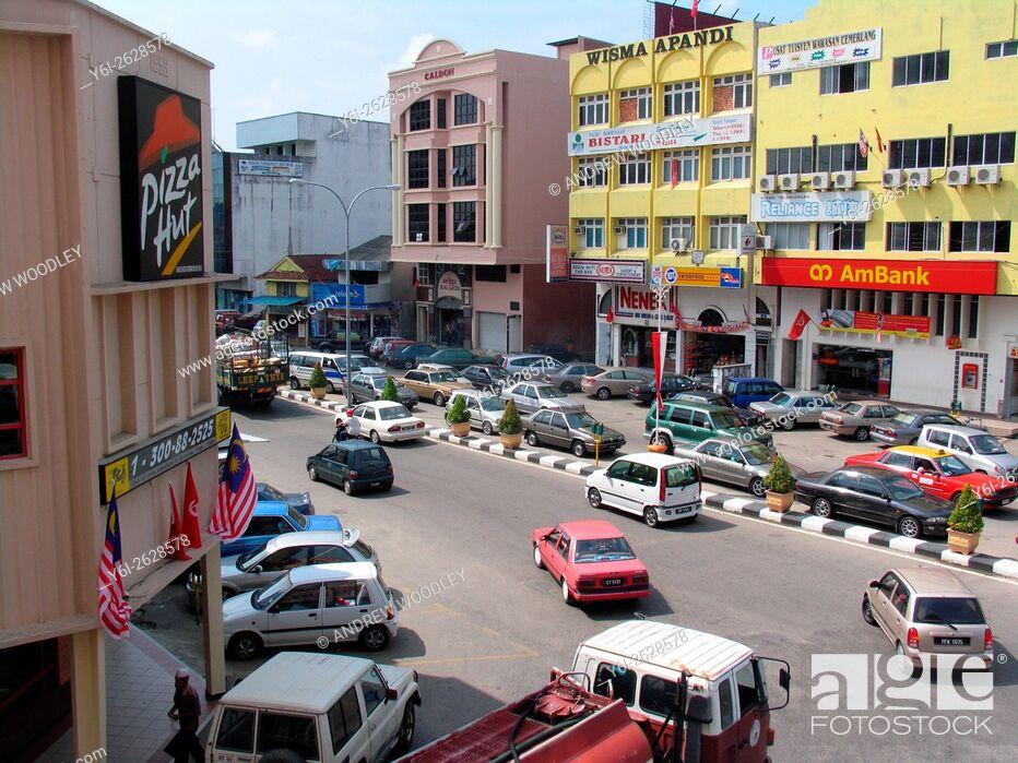 Stock Photo: Street scene Kota Bharu Malaysia.