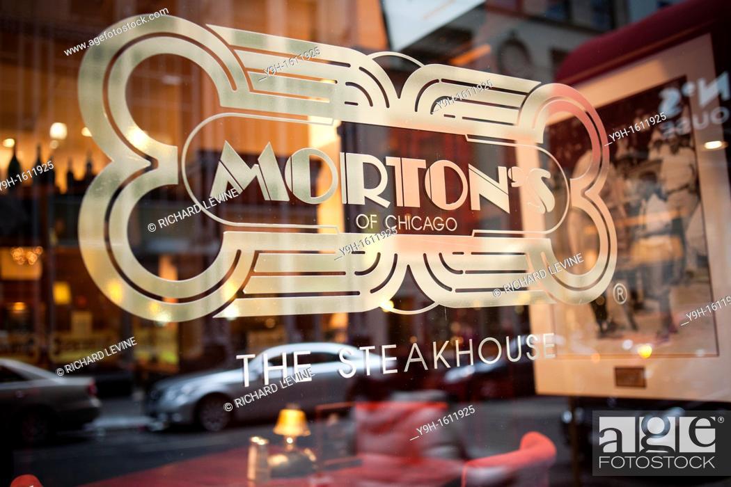 Stock Photo Morton S Steakhouse Restaurant In Midtown Manhattan New York Landry Restaurants The