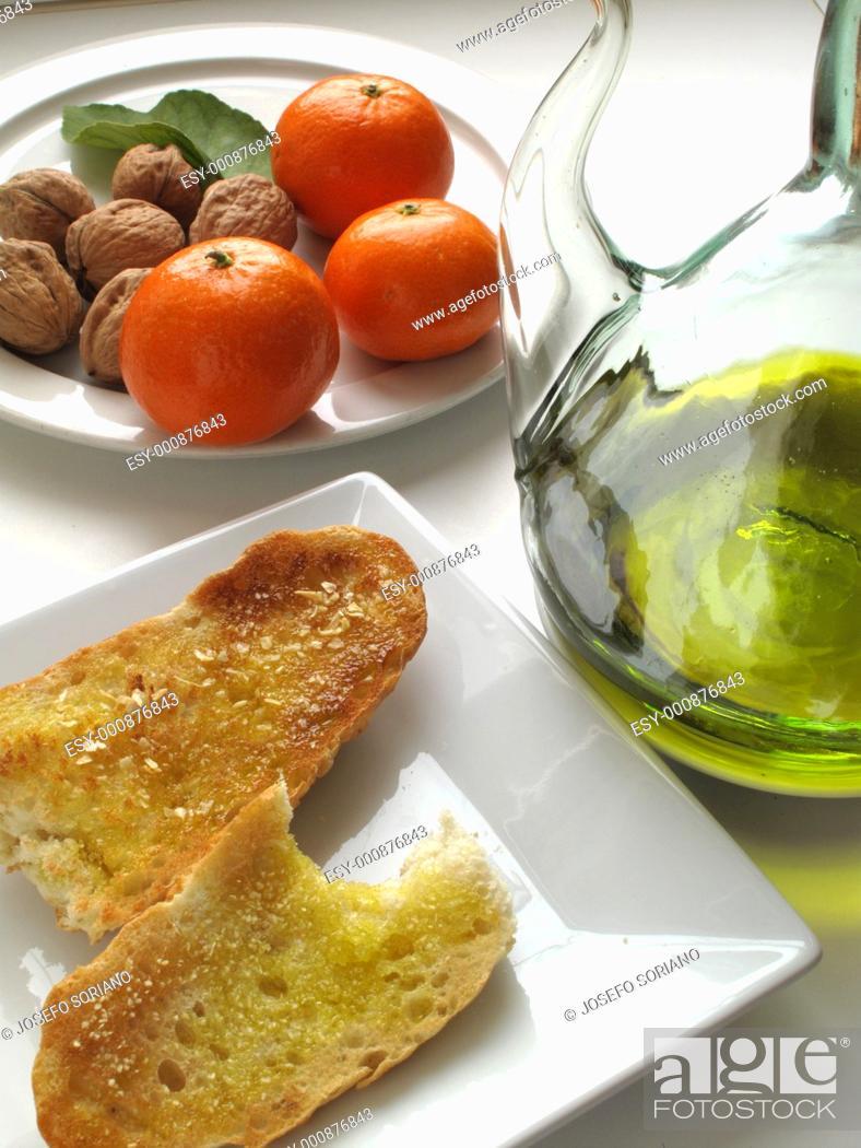 Stock Photo: Mediterranean Breakfast.