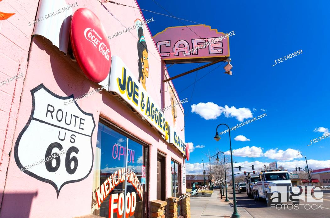 Stock Photo: Holbrook, U.S. Route 66 (US 66 or Route 66), Arizona, USA, América.