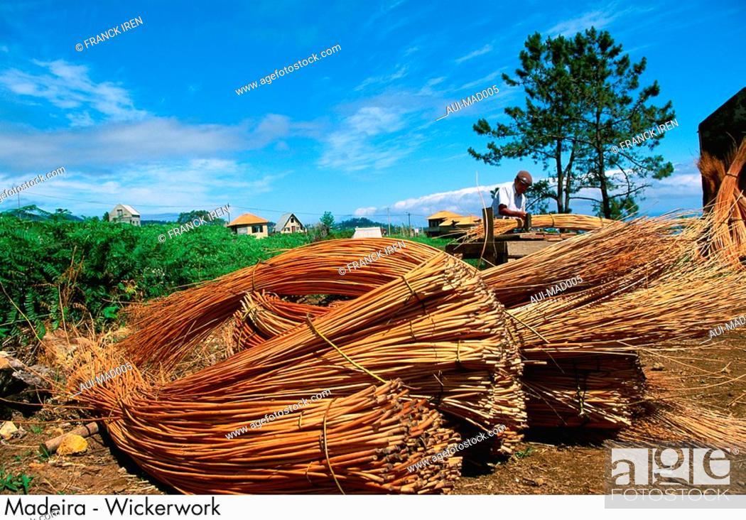 Stock Photo: Portugal - Madeira - Wickerwork.