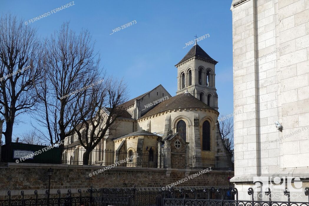 Stock Photo: Church of Saint Peter of Montmartre. Saint-Pierre de Montmartre. Montmartre. Paris. France. Europe.