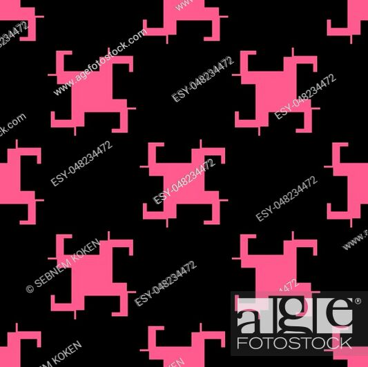Stock Vector: Seamless abstract modern pattern from rectangle intersections.
