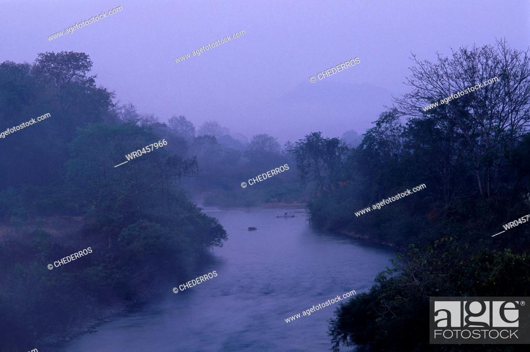 Stock Photo: Thailand Mae Hong Son Landscape around Mae Hong Son.
