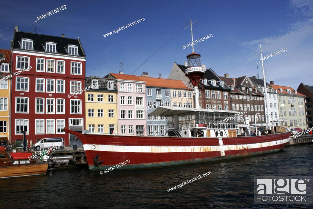 Stock Photo: europe, denmark, copenhagen, nyhavn.