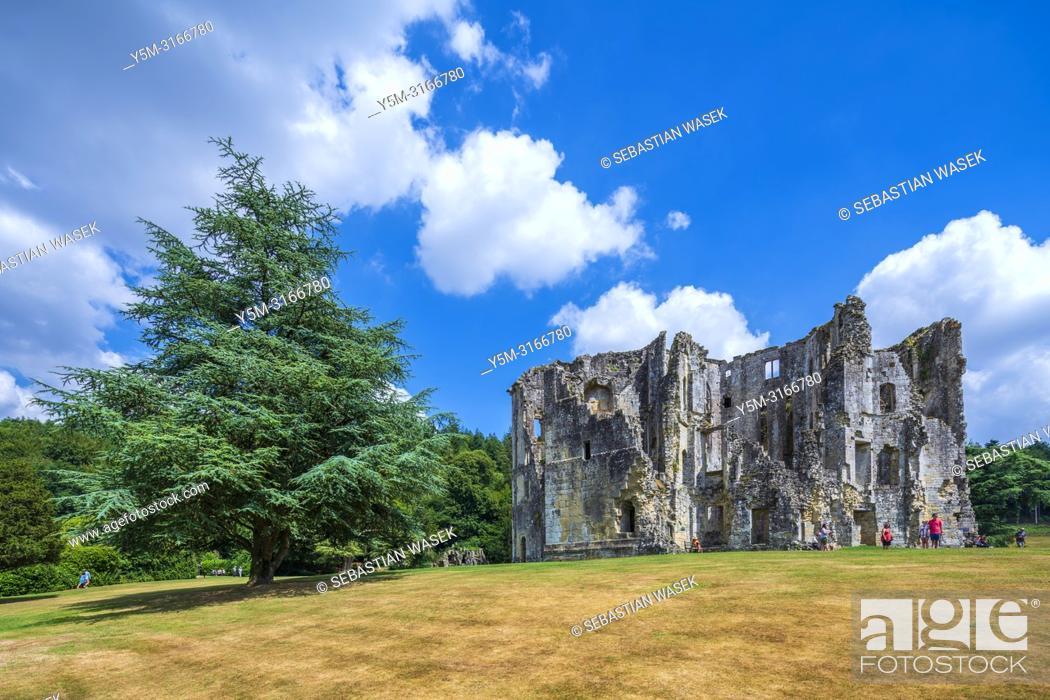 Stock Photo: Old Wardour Castle near Tisbury, Wiltshire, England, United KIngdom, Europe.