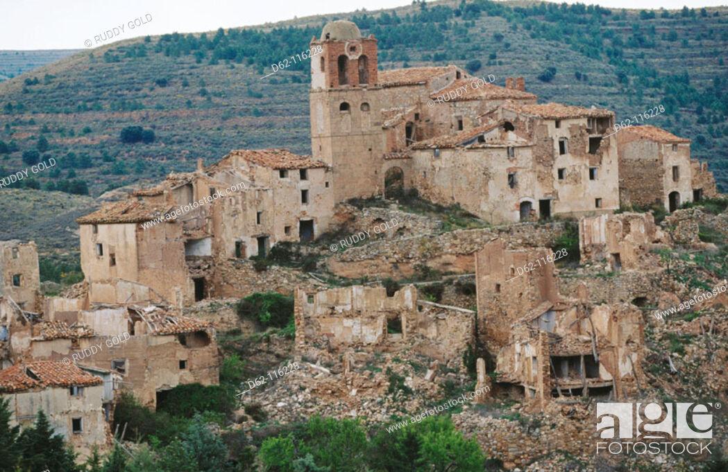 Stock Photo: Abandoned village. Spain.