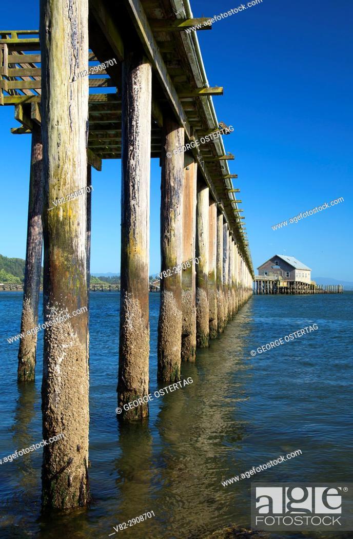 Stock Photo: Pier's End, Garibaldi, Oregon.