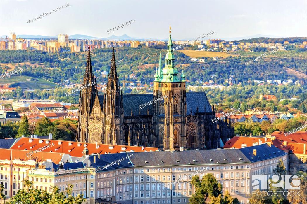 Stock Photo: Prague Castle, famous sight of Czech Republic.