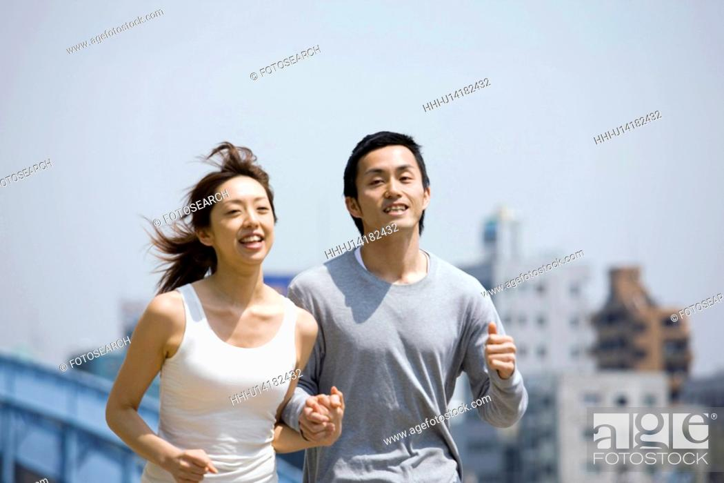 Stock Photo: Jogging.