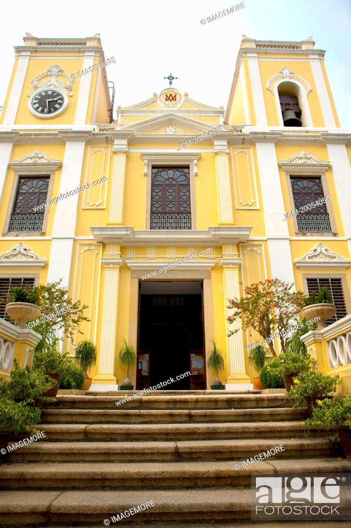 Stock Photo: China, Macou, St. Lawrence's Church, UNESCO, World Cultural Heritage.