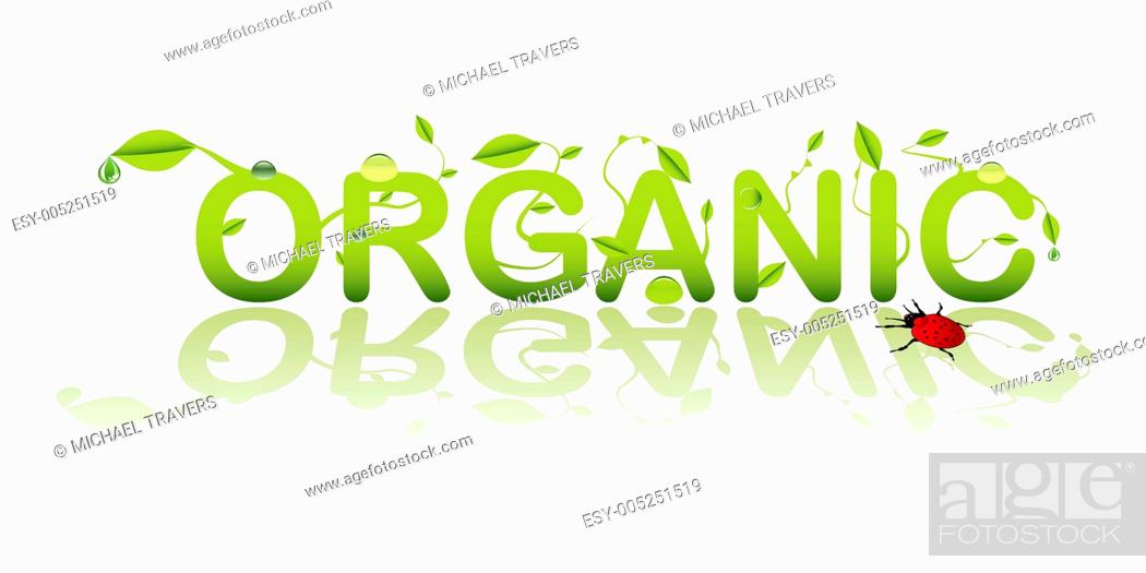 Stock Photo: Organic text.