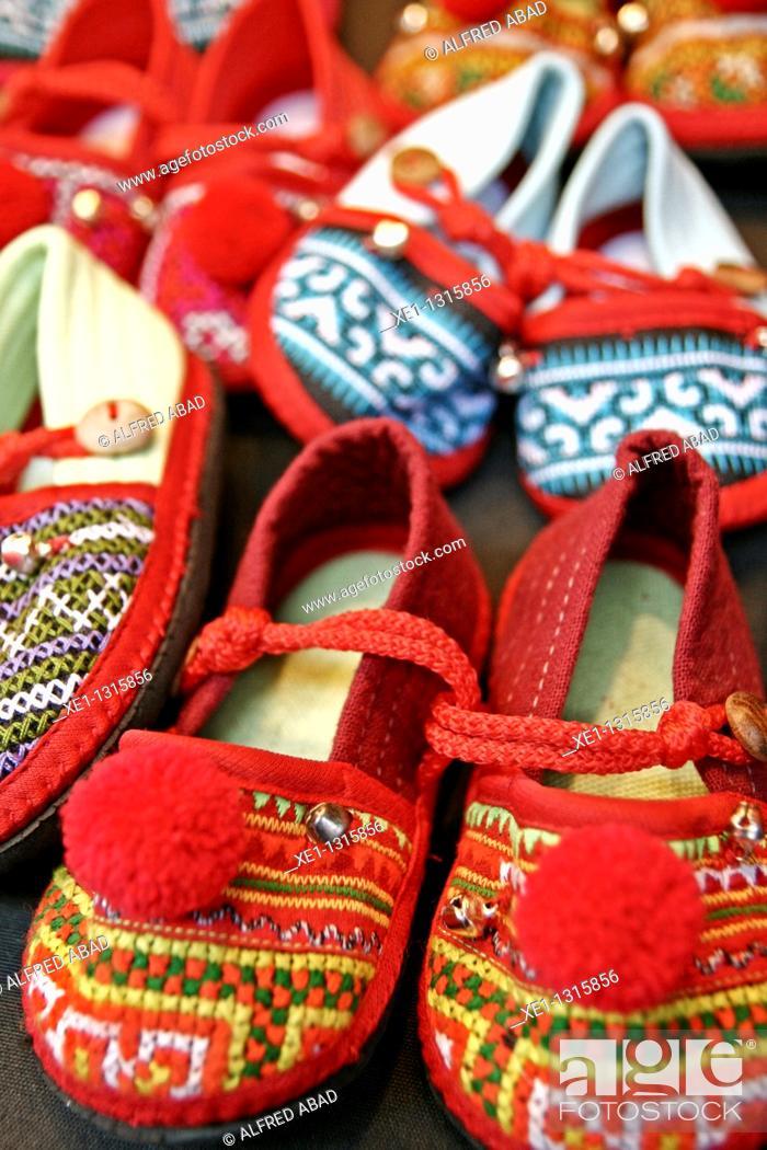 Stock Photo: Children's slippers .