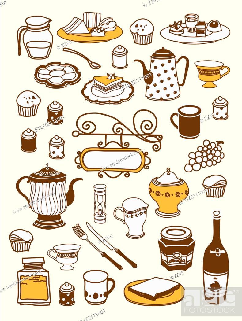 Stock Photo: Close-up of food stuff.