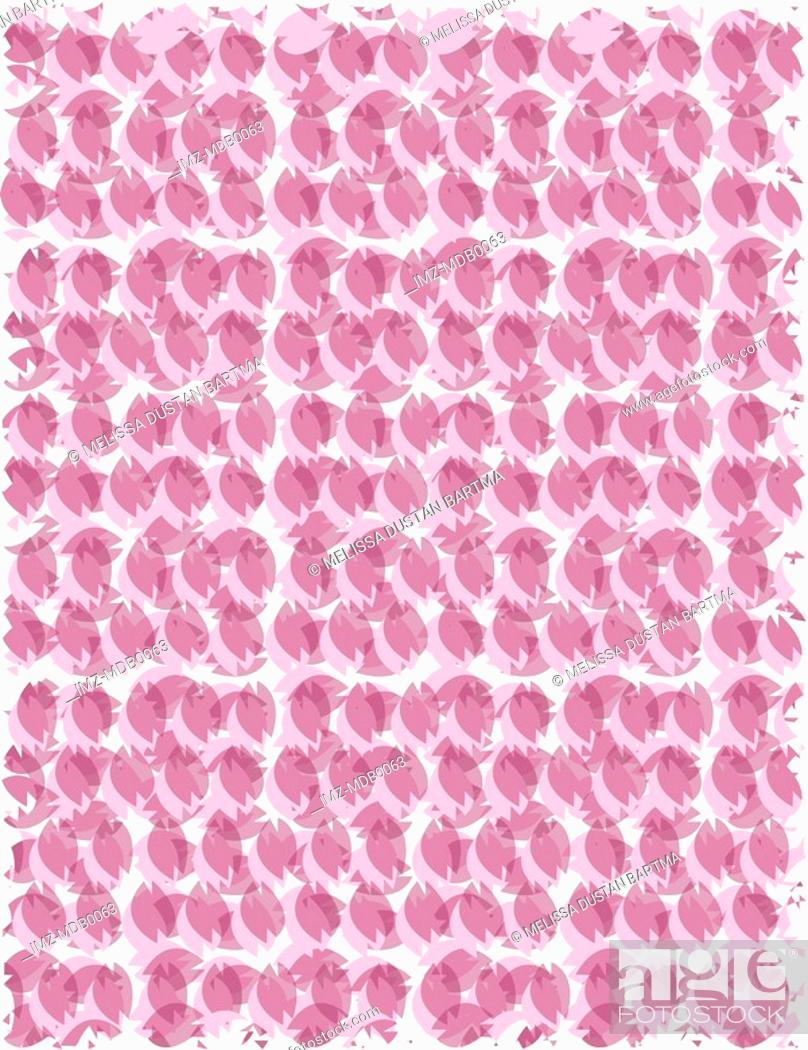Stock Photo: A pink and purple feathered pattern.