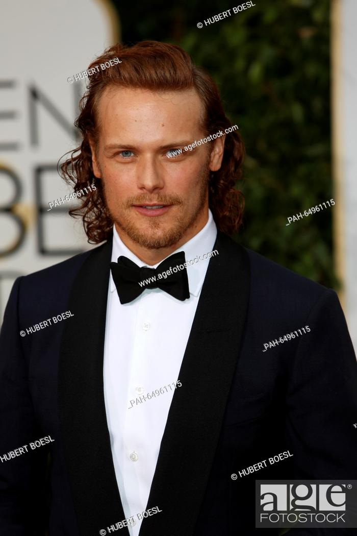 British actor Sam Heughan arrives for the 73rd Annual Golden