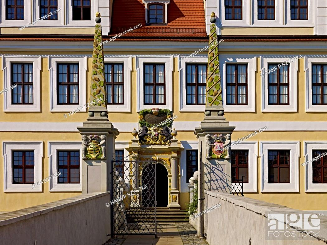 Facade Of The Castle In Delitzsch Saxony Germany Stock Photo